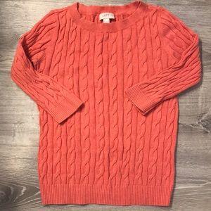 Loft salmon/peach sweater